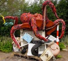polvo gigante lixo mares