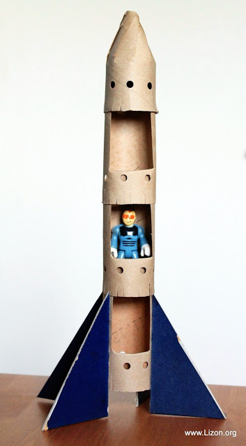 upcycling foguetão rolos de papel higiénico