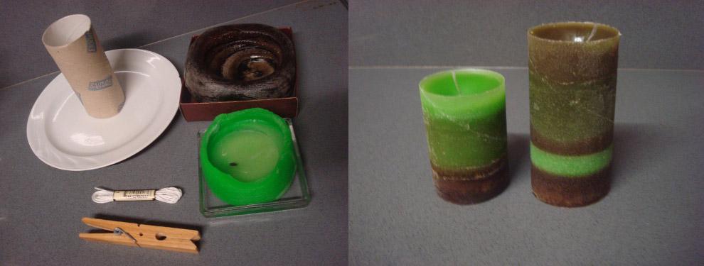 velas reciclar rolos de papel higiénico