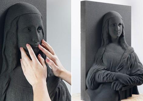 3D Blind Art mona lisa