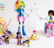 bonecos com deficiências