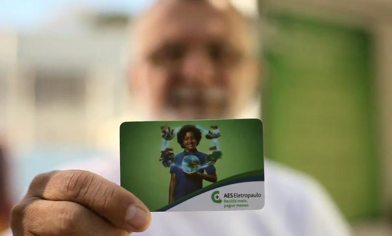 cartão reciclagem poupança