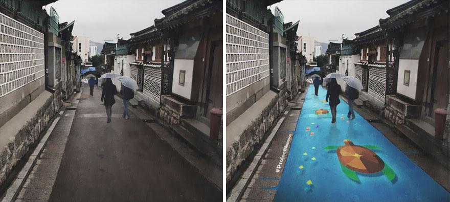 pantone arte de rua tartarugas coreia