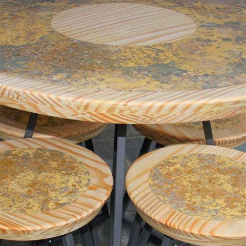 Alexandre Toscano mesas bancos ecomarmore