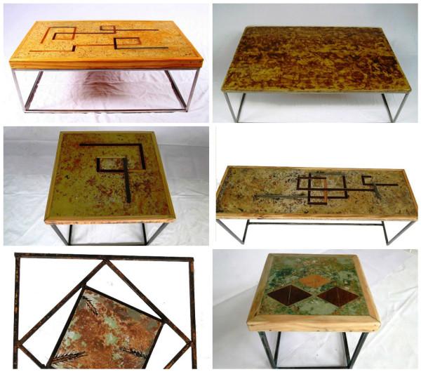 Alexandre Toscano mobília mesas reciclagem