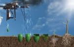 Drone plantação de árvores