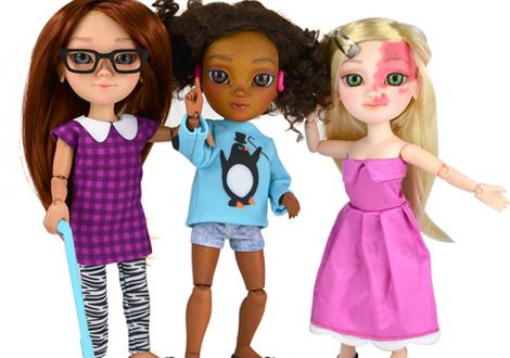 bonecas com deficiências físicas