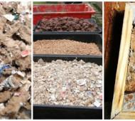 sacos de cimento usados