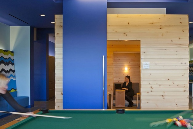 nokia escritórios inspiradores mesa de bilhar