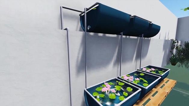 piscina ecológica sistema de tratamento de água