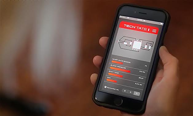 saúde aplicação telemóvel Tech Tats