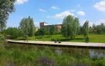 Parc Du Chemin Nanterre França jardim filtrante