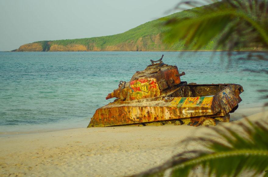 Tanque de guerra porto rico praia