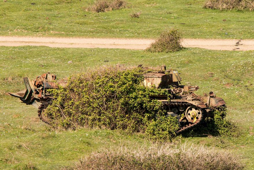 Tanques de guerra abandonado reino unido