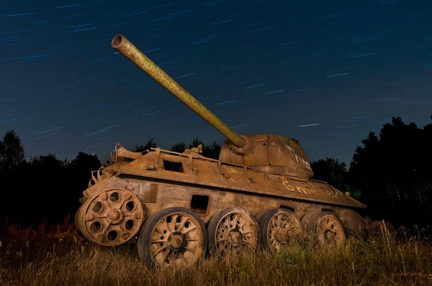 Tanques de guerra abandonados alemanha
