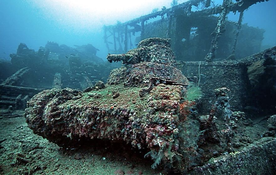 Tanques de guerra mar coral