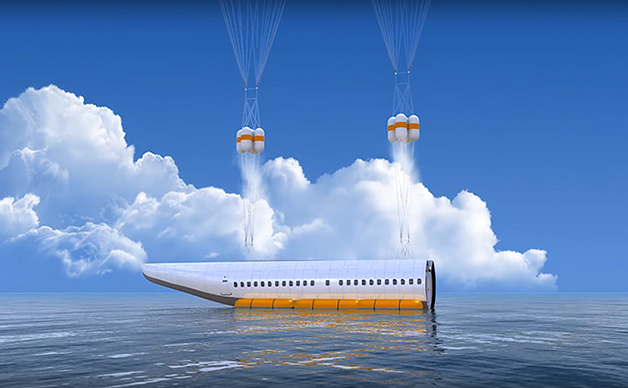 avião caso de acidente