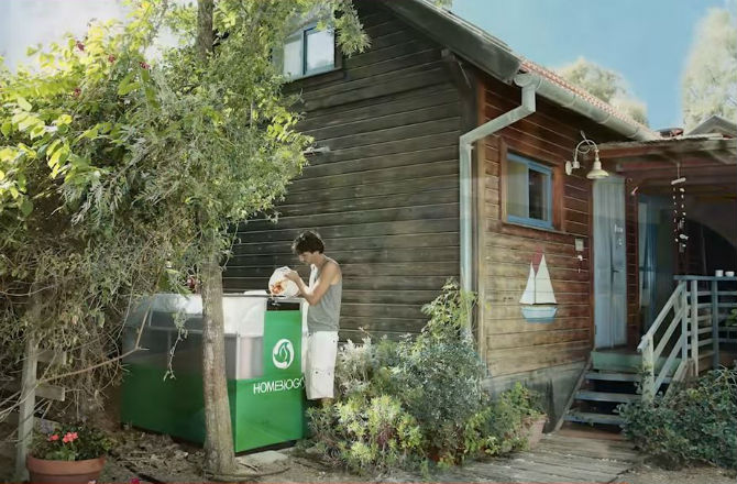 home biogás compostagem