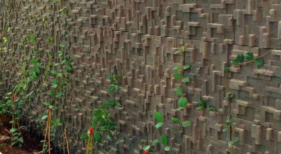 parede de betão plantas