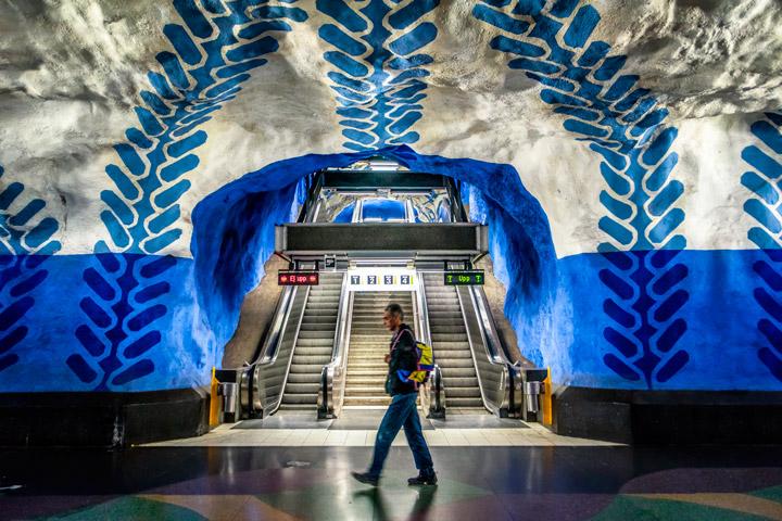 transportes públicos estocolmo pintura