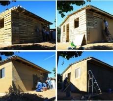 casa paletes de madeira