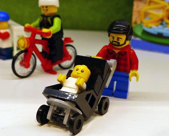 lego carrinho de bebé