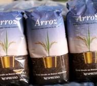Arroz Nespresso Banco Alimentar reciclagem