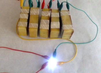 bateria de batata energia