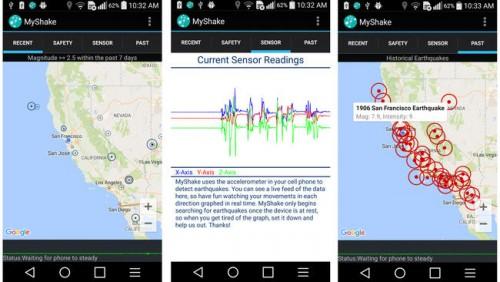 terramoto aplicação telemóvel