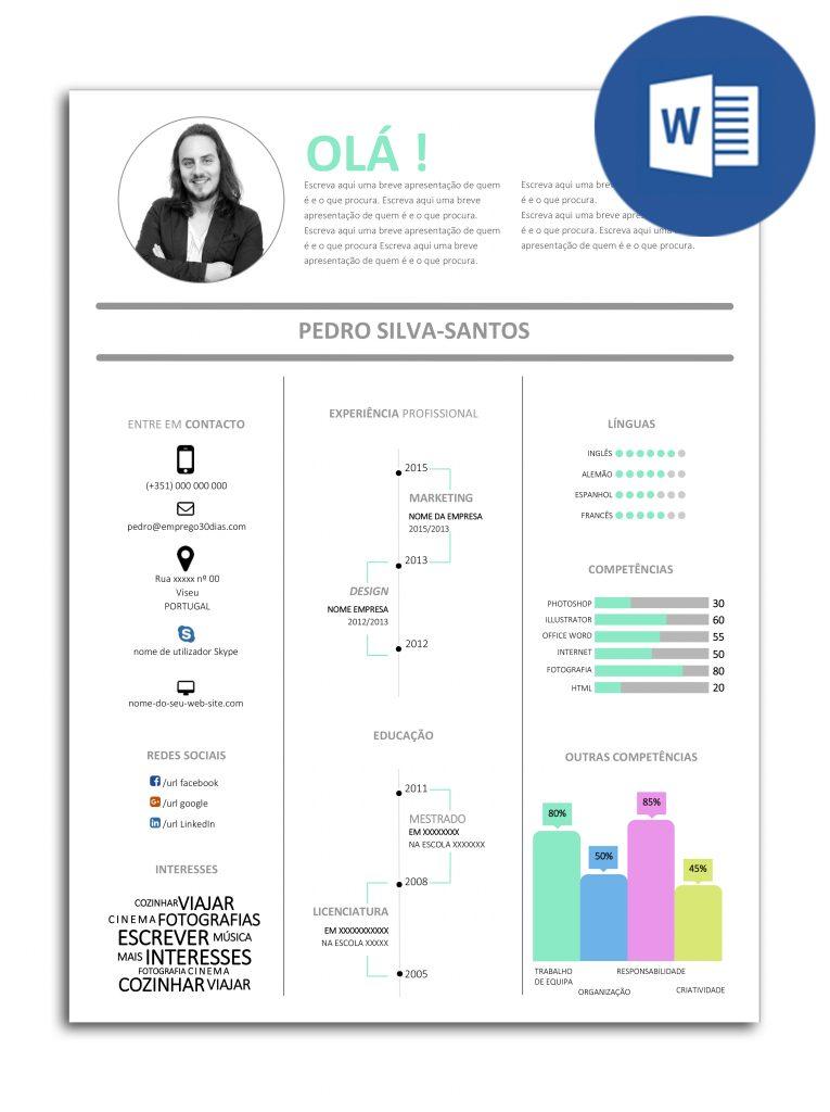 Modelo de currículo editável em Word - InfoGráfico