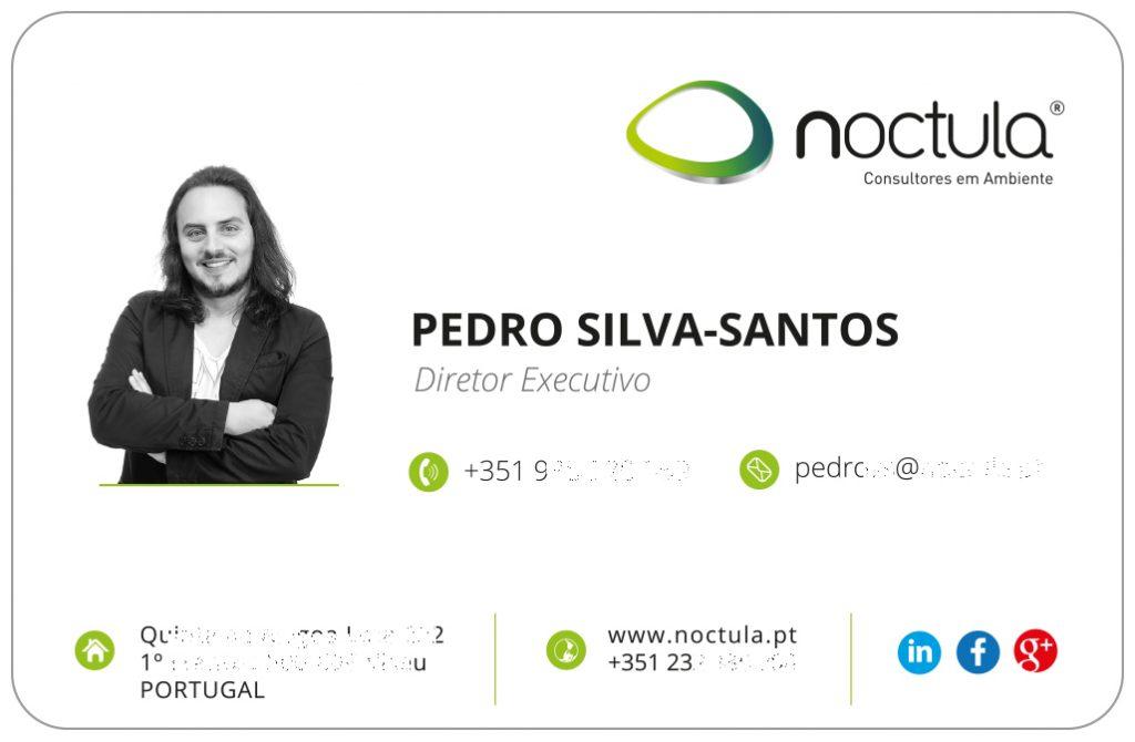 Cartão pessoal do Pedro Silva-Santos